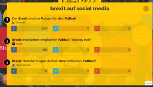 Brexit und Sport in sozialen Medien