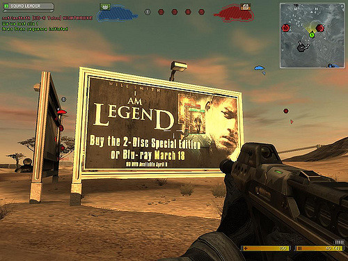 """I am legend"" - billboard in the game Battlefield 2124"