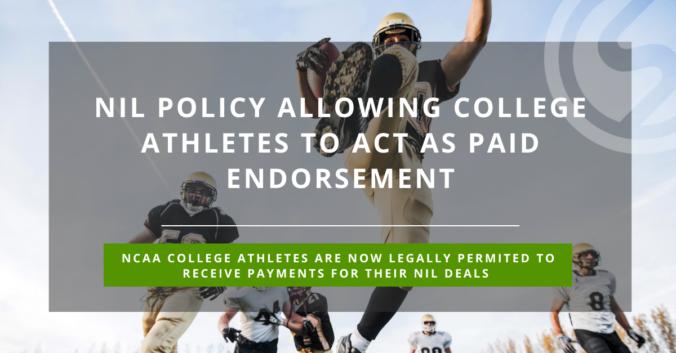 NIl policy NCAA athletes